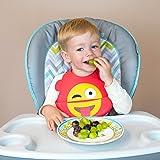 Emoji Silicone Baby Bib by FOMI   2 Pack