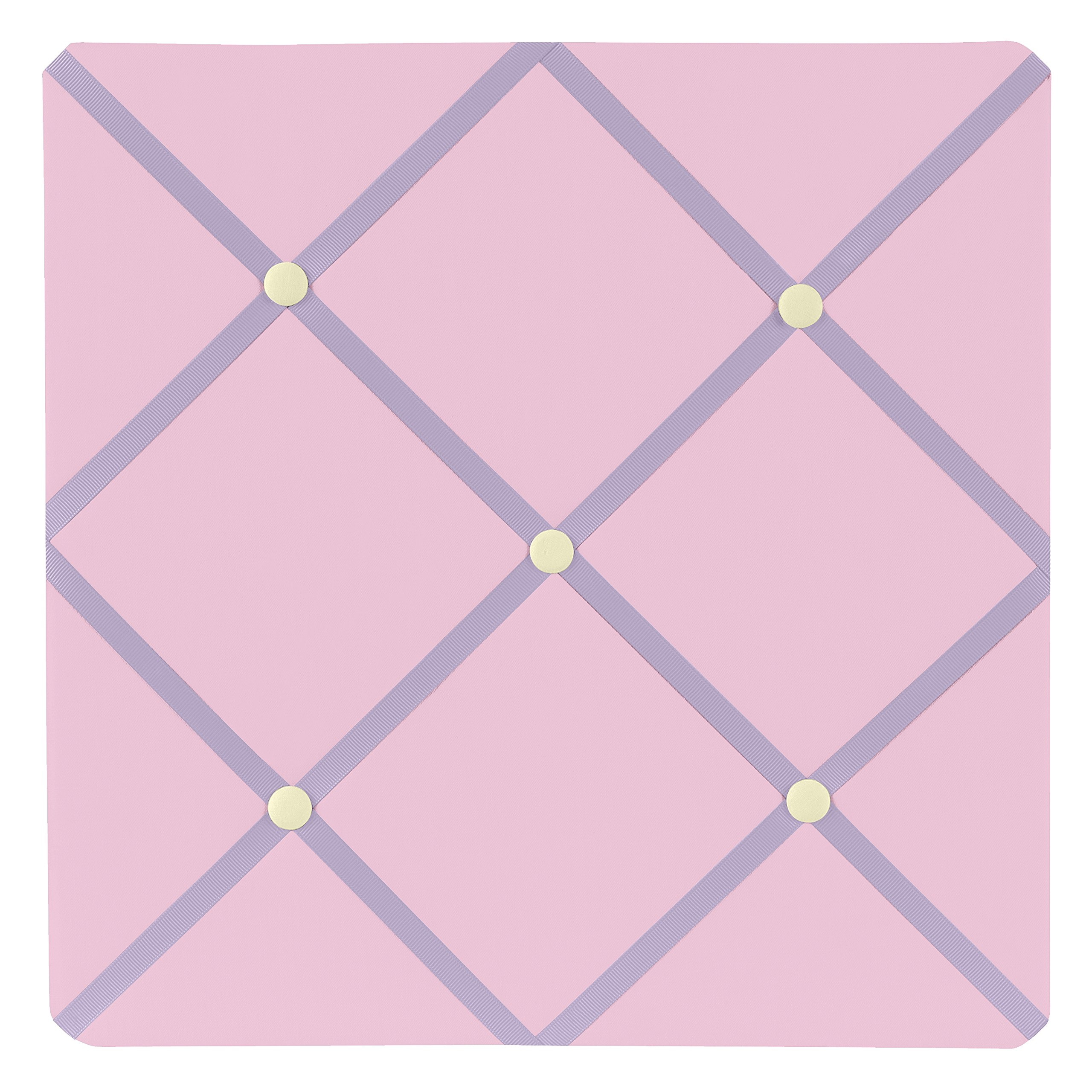 Pink and Purple Butterfly Fabric Memory/Memo Photo Bulletin Board by Sweet Jojo Designs by Sweet Jojo Designs