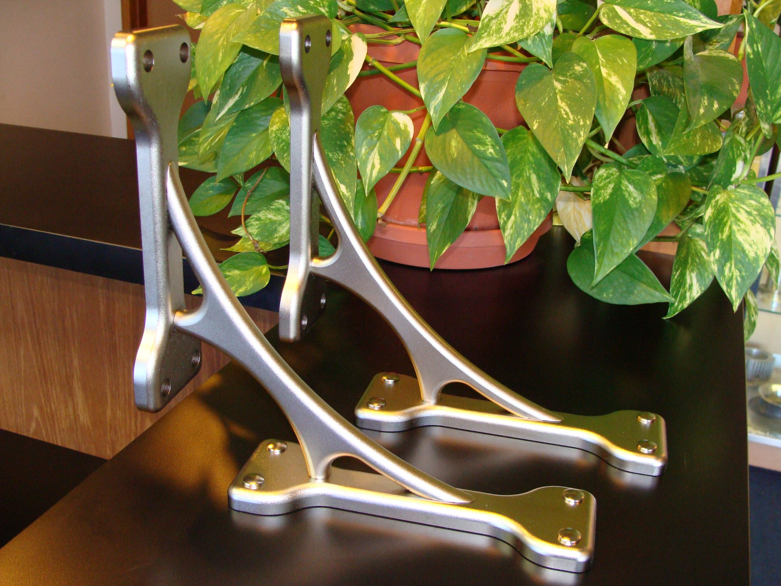 Qty. 1 Solstice 2,1/2''w X 10''d X 10''h Satin Nickel Aluminum Bracket / Corbel / Countertop Support / Shelf Bracket (Supports up to 250lbs.) Matches Stainless Steel. All of Our Corbels Are Sold As Each by Asigma Designs