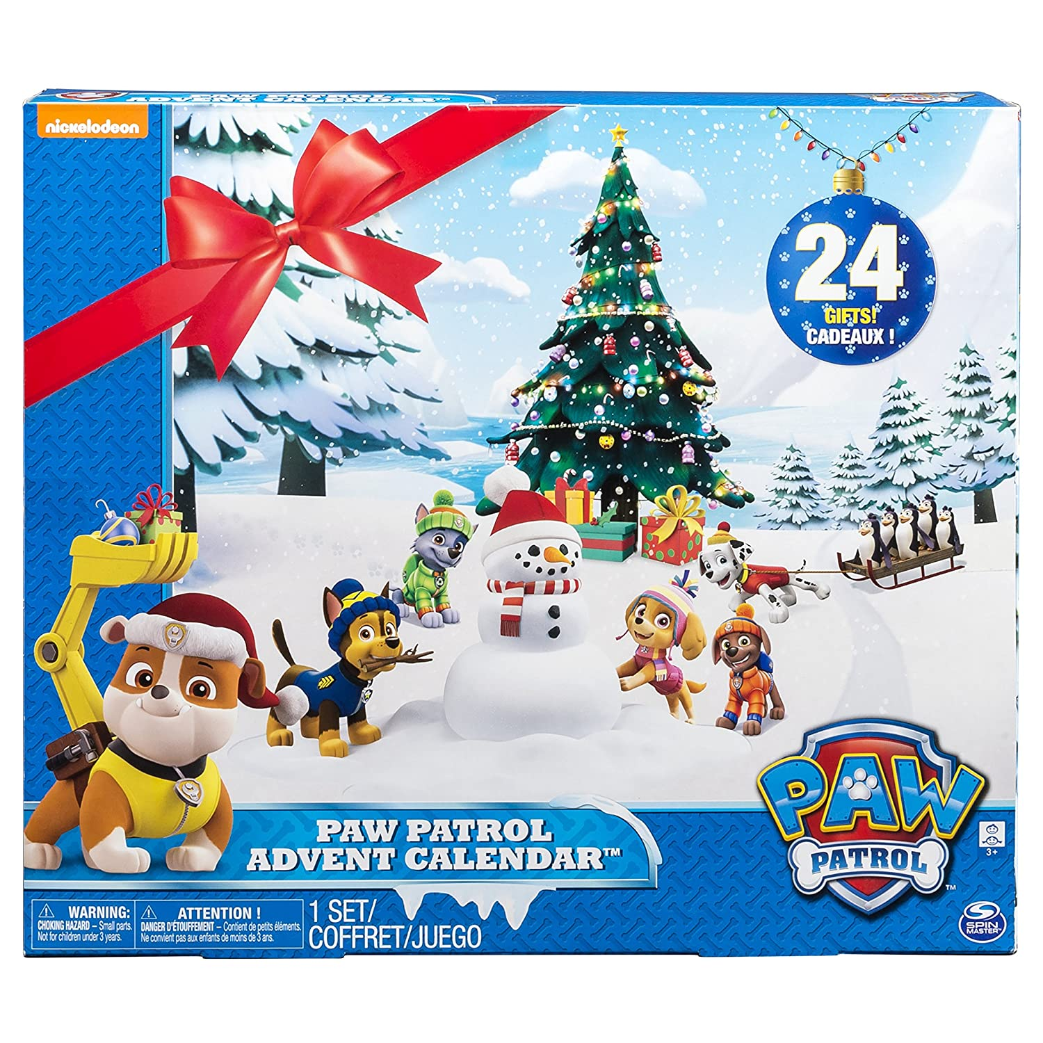 Paw Patrol Advent Calendar with 24 Collectible Plastic Figures Spin Master 6037924