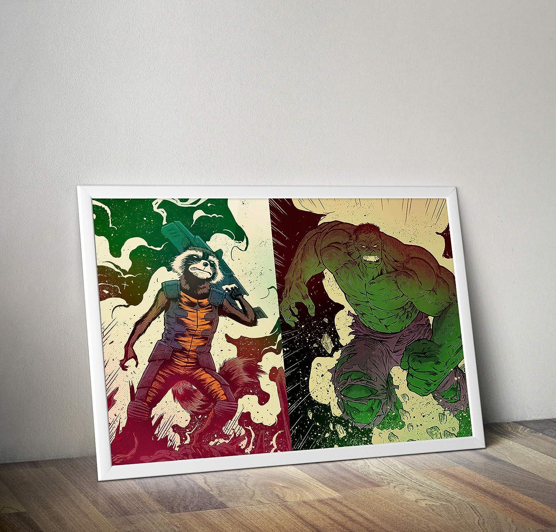 Amazon.com: Guardians Poster Handmade Marvel Wall Poster ...
