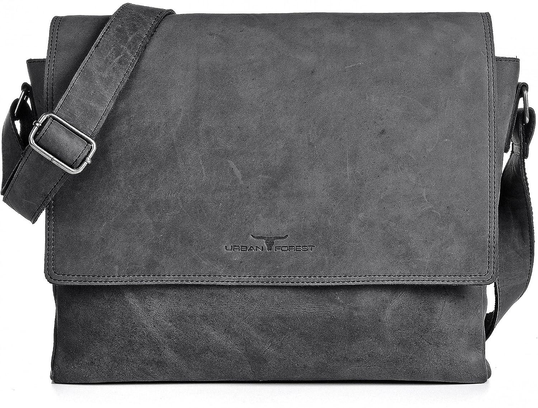 Retro Business Herren Aktentaschen 14 Zoll Vollrindleder Einfarbig Reißverschluss Tasche Laptop Notebook Computer Aktentasche Taschen Gepäck & Taschen