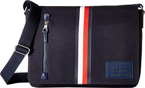4b9dad6506 Tommy Hilfiger Men's Harrison Canvas Messenger Tommy Navy One Size ...