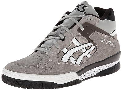 ASICS Gel-Spotlyte Retro Basketball Shoe, Light Grey/White, 8 M US