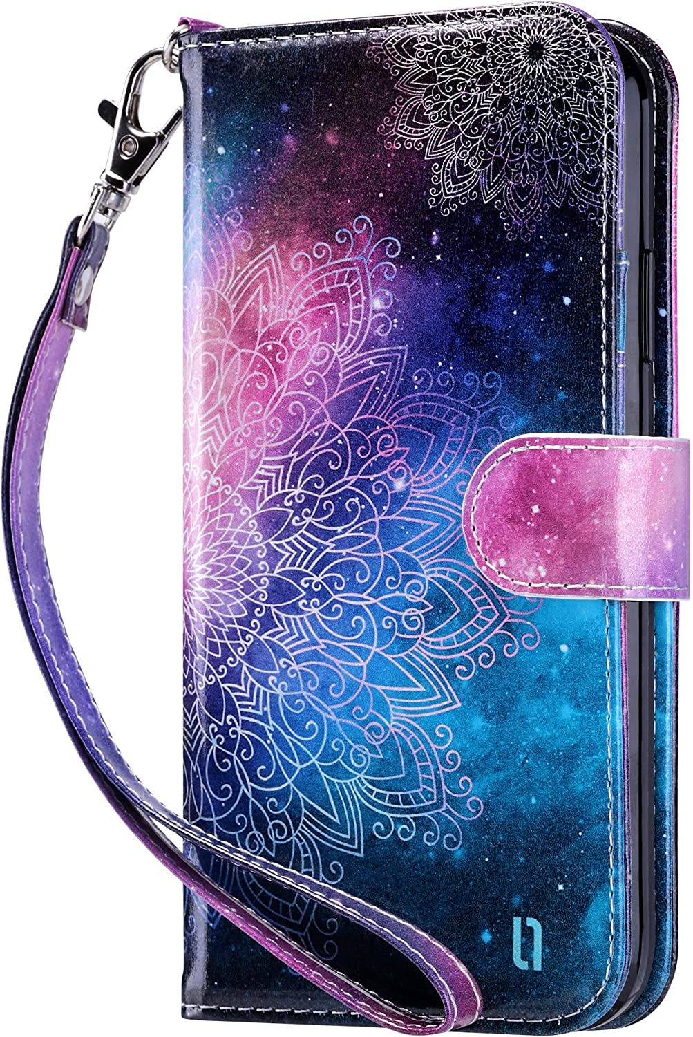 ULAK iPhone 11 Wallet Case iPhone 11 Case with Card Holder PU Leather Flip Cover with Kickstand Magnetic Closure TPU Shockproof Interior Protective Case for iPhone 11 6.1 Inch Mandala Floral