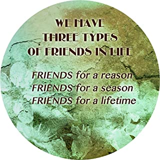 """product image for Next Innovations Motivational Wall Art Types of Friends 16"""" Round"""