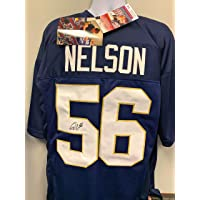Quenton Nelson Notre Dame Fighting Irish Signed Autograph Custom Jersey JSA Witnessed Certified photo