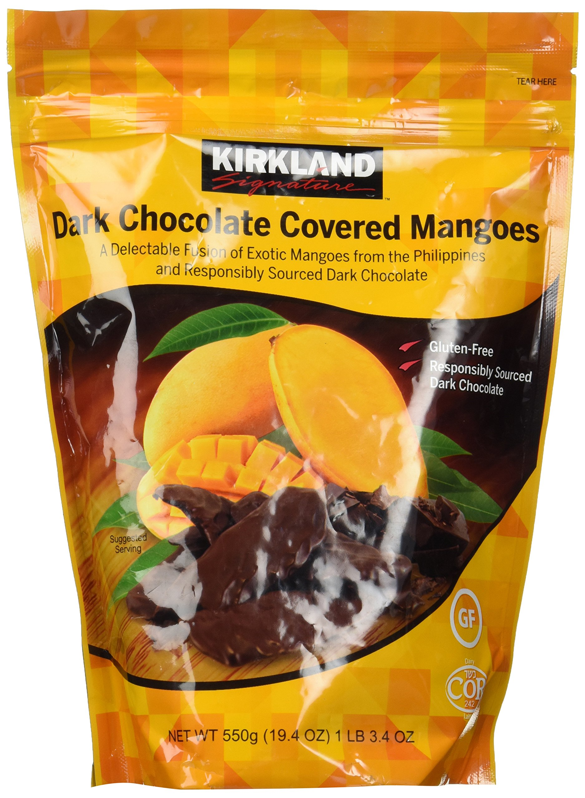 Kirkland Signature Dark Chocolate Covered Mangoes,19.4 Oz
