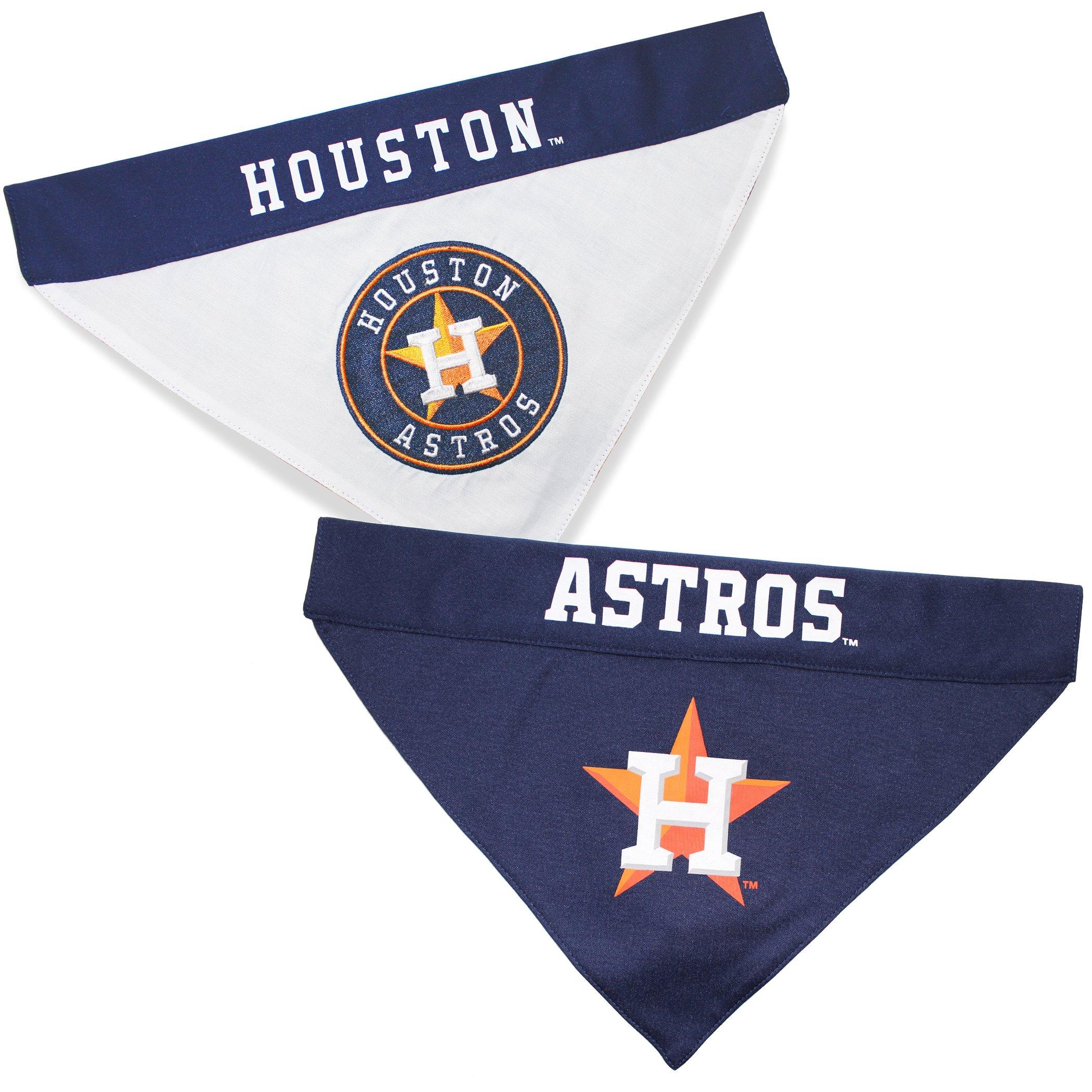 Pets First AST-3217-S-M MLB Dog Bandana - Houston Astros Reversible Pet Bandana, Small/Medium, MLB Team Color