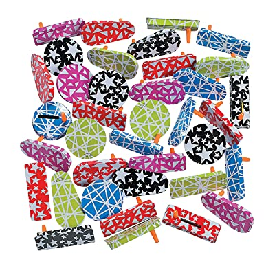 Fun Express Metal Noisemaker Asst (50pc) Toys and Sporting Event and Party Noisemakers: Toys & Games