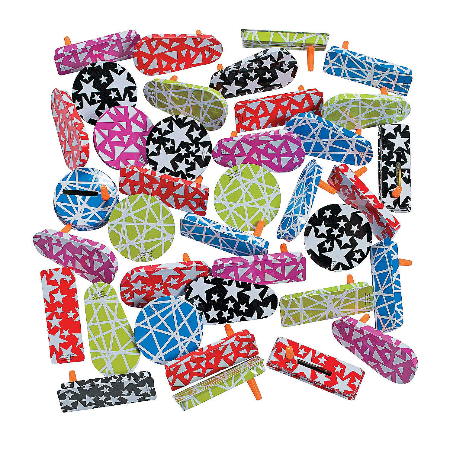 Fun Express - Metal Noisemaker Asst (50pc) for Party - Toys - Assortments - 50Pc Assortments - Party - 50 Pieces by Fun Express