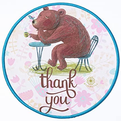 Amazon round mouse pad thick circle shape mousepad clear image round mouse pad thick circle shape mousepad clear image cute cartoon lovely animals pretty girlish floral mightylinksfo