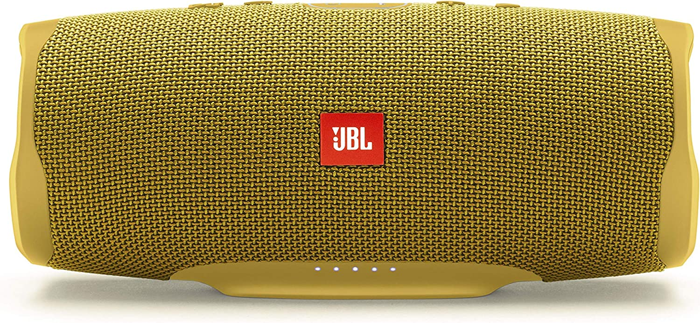 JBL Charge 4 – Altavoz inalámbrico portátil con Bluetooth, parlante resistente al agua (IPX7), JBL Connect+, hasta 20 h de reproducción con sonido de alta fidelidad, amarillo