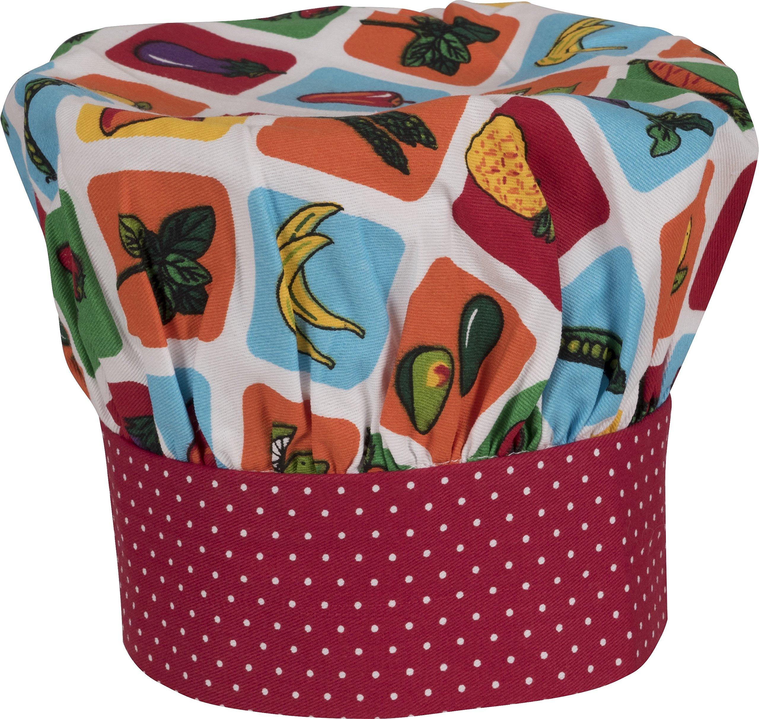 Handstand Kitchen Child's 100% Cotton 'Farmers Market' Adjustable Band Chef's Hat