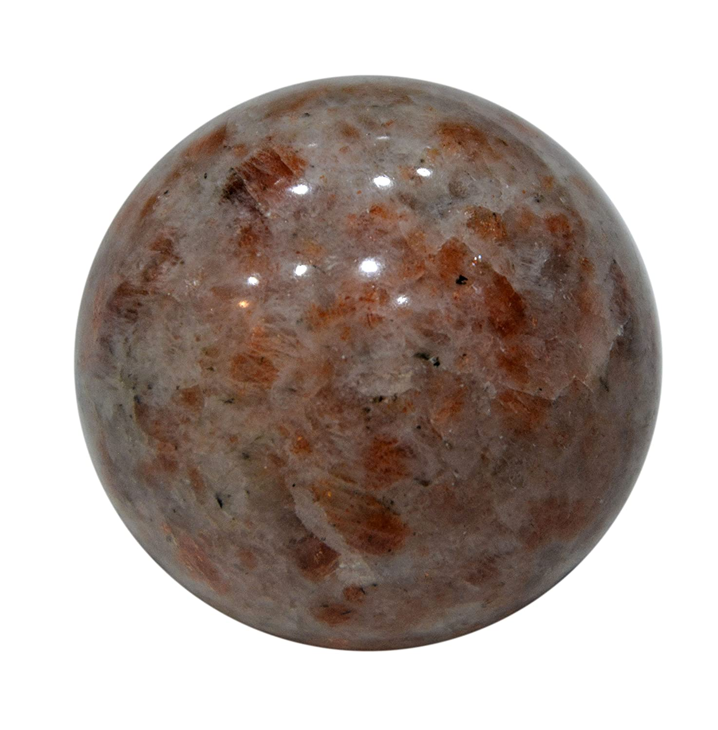 Aatm Healing Gemstone Sunstone Sphere Ball of Love & Protection Aatm Collection GAPC-215