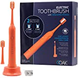 OOAK Electric Toothbrush with 5 Brushing Modes with 2 Advanced Heads - Coral