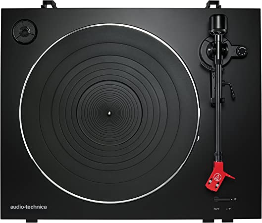 Audio-Technica AT-LP3BK Fully Automatic Belt-Drive Stereo Turntable, Black