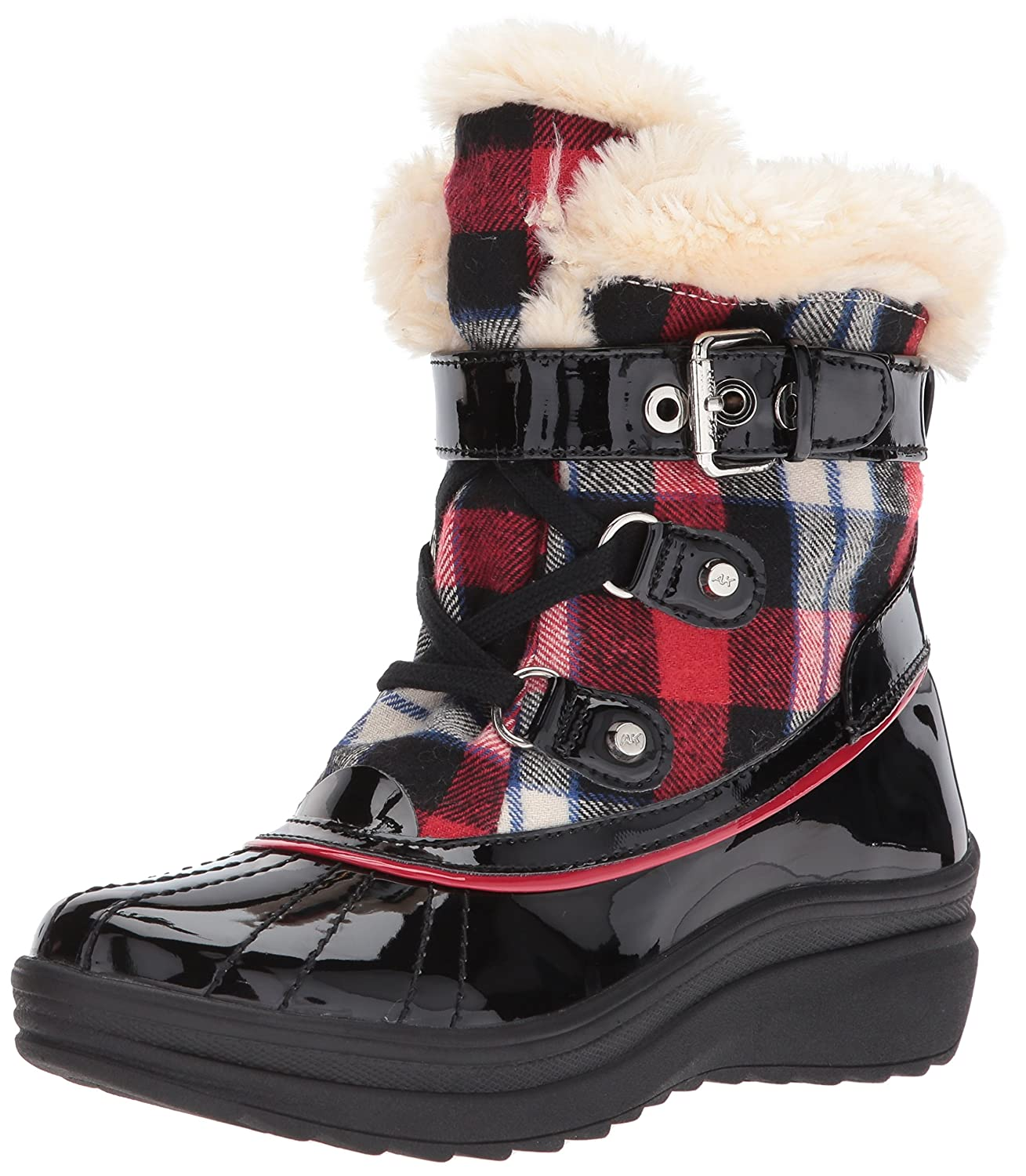 Anne Klein Women's Gallup Fabric Snow Shoe B072HP7JM7 6 B(M) US|Red/Multi Fabric