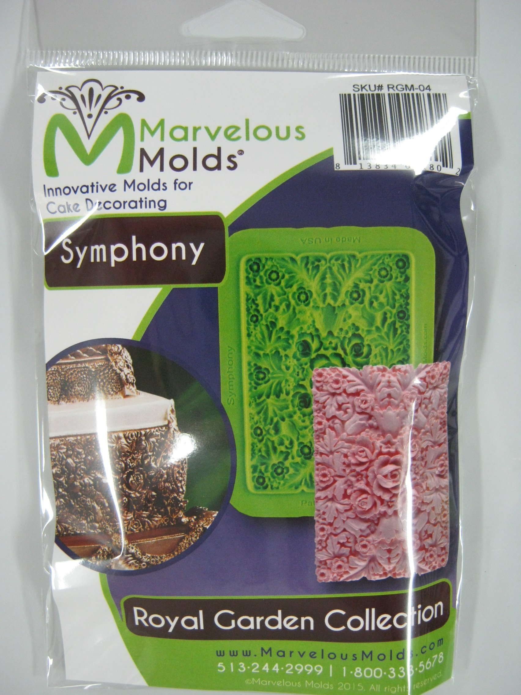 Symphony Silicone Mold (Royal Garden Collection) By Marvelous Molds