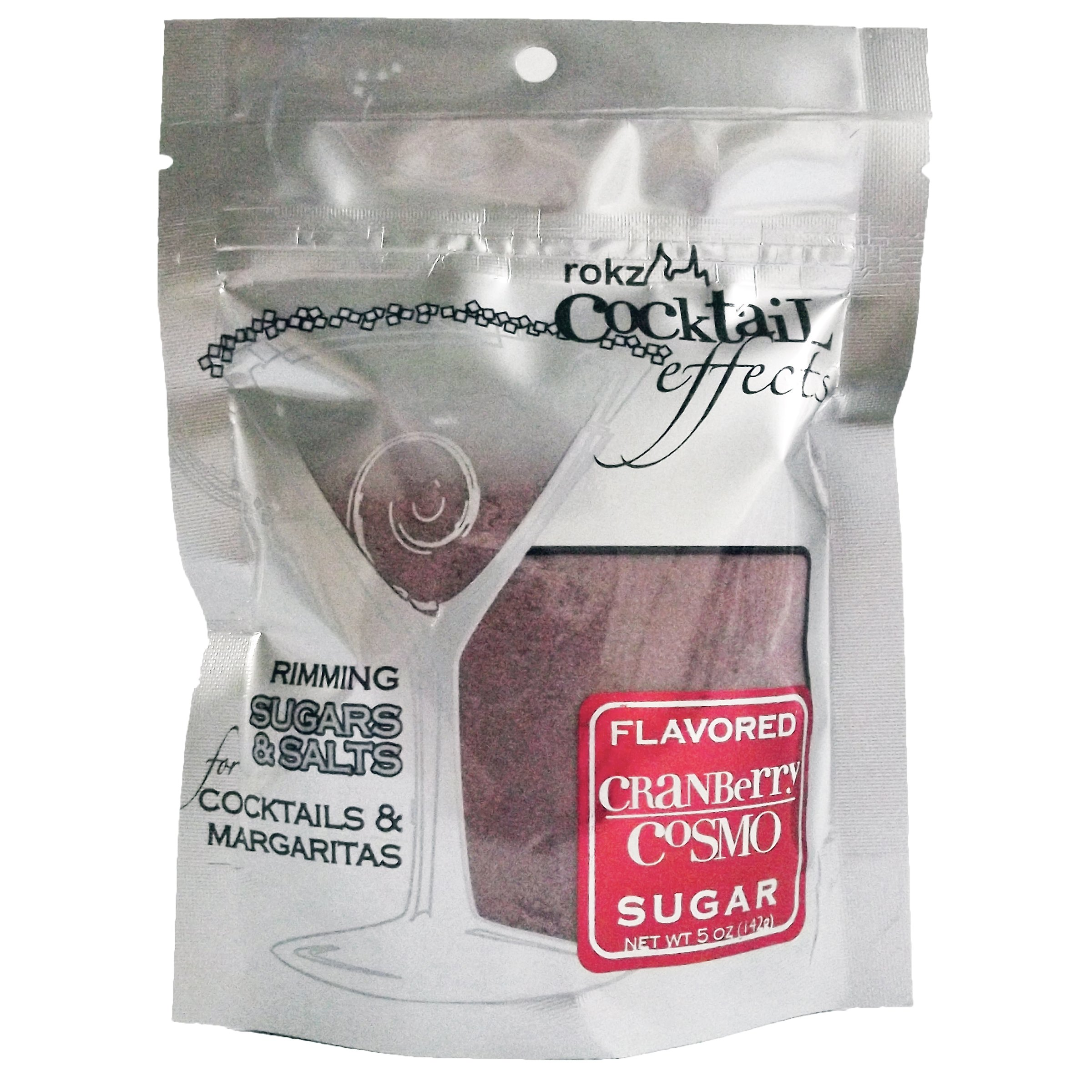 Cranberry Cosmo Cocktail Sugar, Drink Rimmer Pack of 3 by Rokz (Image #1)