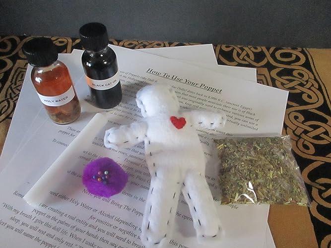 Amazon com: Voodoo Doll Kit ~ Healing Spell Kit ~ Poppet