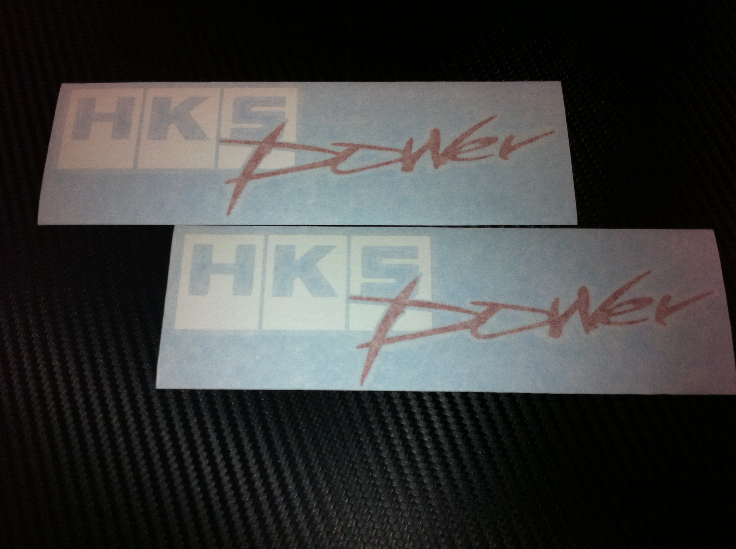 2 X HKS Power Racing Decal Sticker (New) White/red Size 7''x2.2''