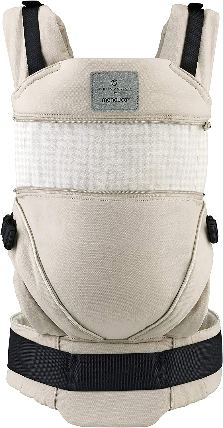 No Infant Insert Needed Adapts to Babies from Newborn to Toddler Grey//Pink 3.5-20 kg manduca XT Baby Carrier  Limited Edition//Butterfly Pearl  Baby Carrier with Adjustable Seat Organic Cotton
