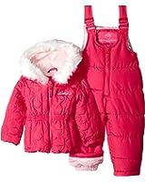 13100c63c3dc Amazon.com  Pink Platinum Baby Girls  All Over Heart Snowsuit  Clothing