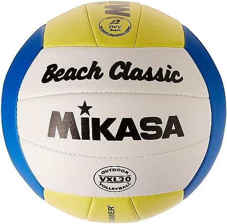 84115049cefc85 Mikasa Beach Classic 5 Beach Volleyball Multi-Coloured  Amazon.co.uk   Sports   Outdoors