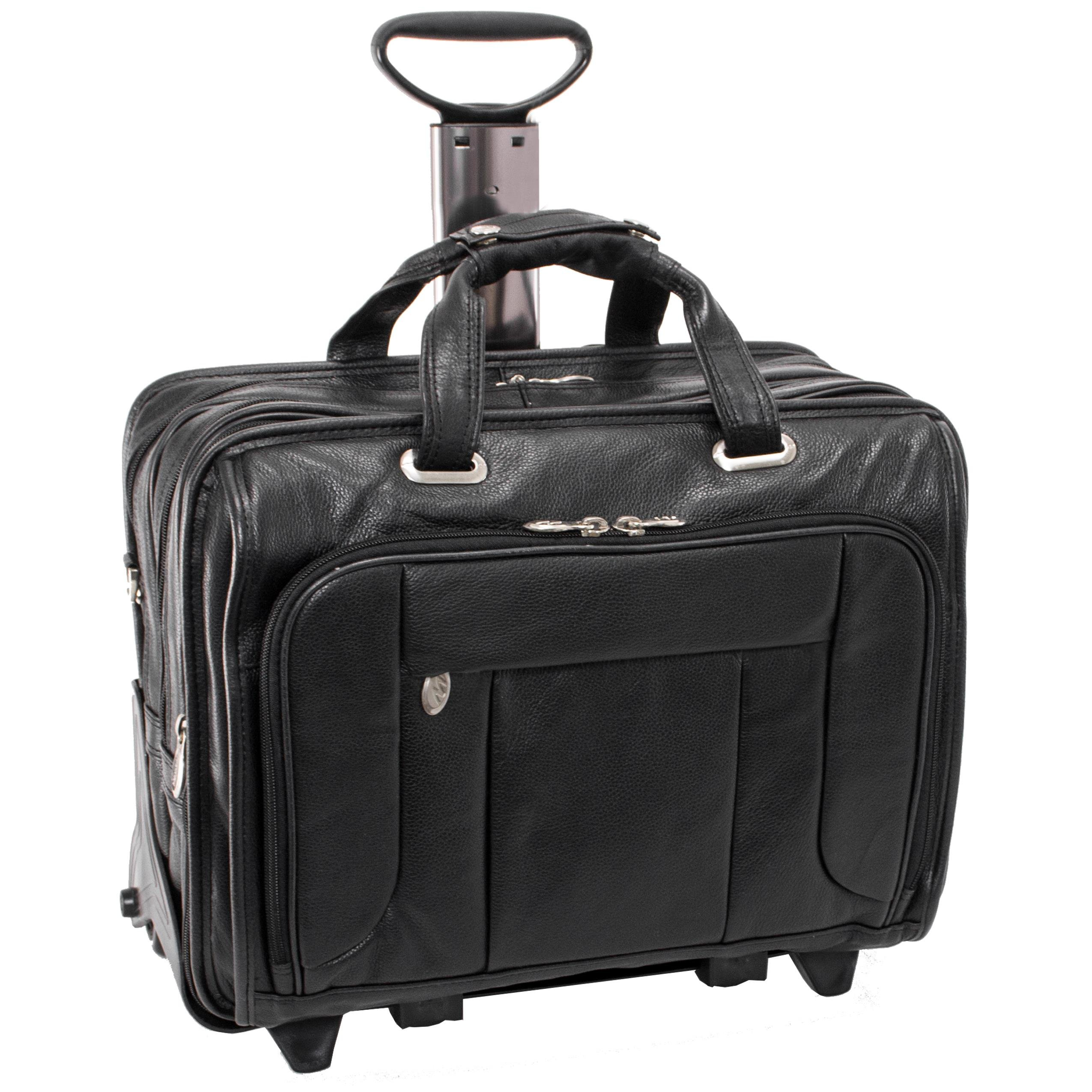 Mcklein USA 15705 West Town, 156'' Leather Checkpoint friendly Wheeled Laptop Case
