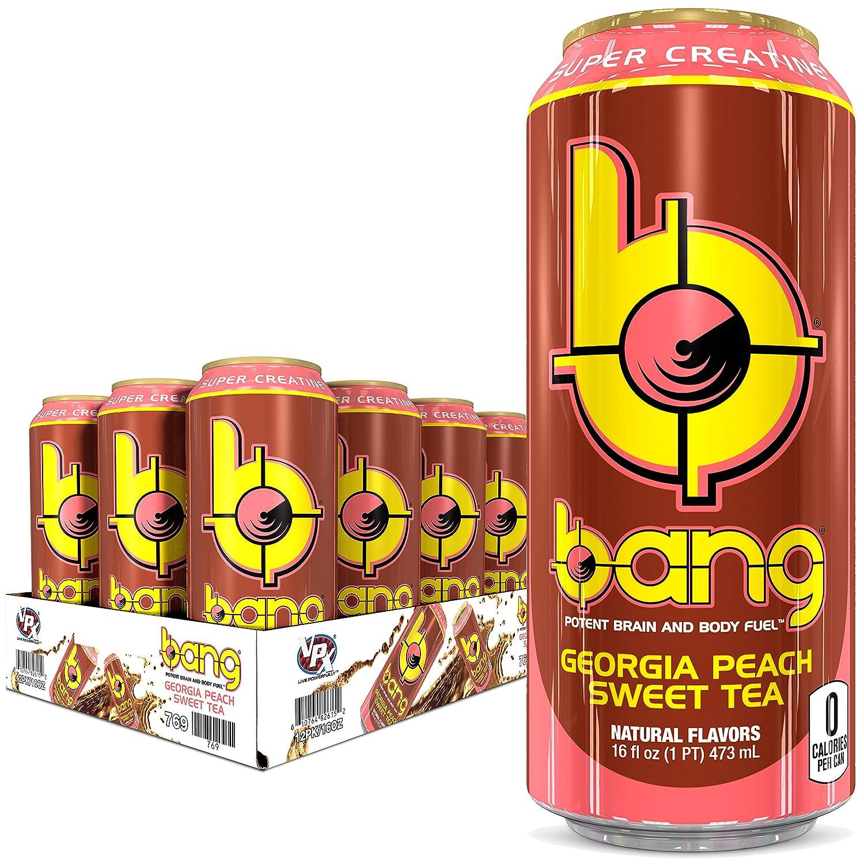 BANG Energy Drink, Georgia Peach Sweet Tea, 192 Fl Oz