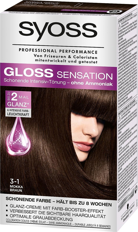 Syoss Gloss Sensation Intensiv Tonung 3 1 Mokka Braun 3er Pack 3 X