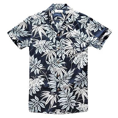 a2cbf7d1 Zecmos Men's Aloha Shirt Hawaiian Shirts Short Sleeve Beach Party Holiday  Flower - Blue -