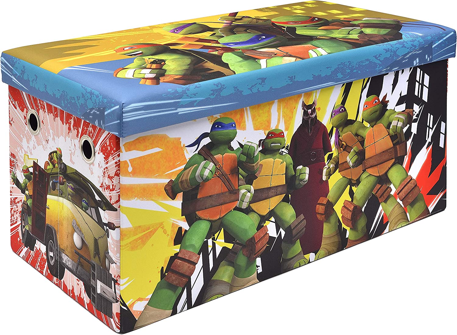 Teenage Mutant Ninja Turtles Storage Bench and Toy Chest, Officially Licensed, Perfect for any Playroom or Bedroom
