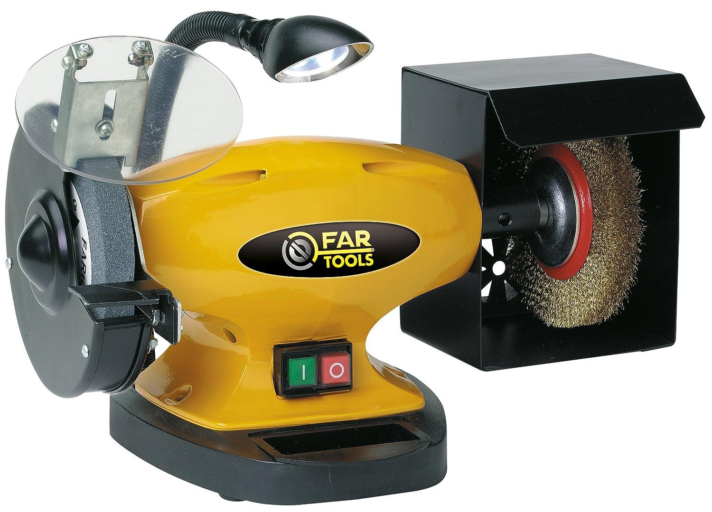 Fartools 110255 - Esmeriladora de banco (450 W, diá metro: 150 mm, diá metro 2: 150 mm) diámetro: 150 mm diámetro 2: 150 mm)