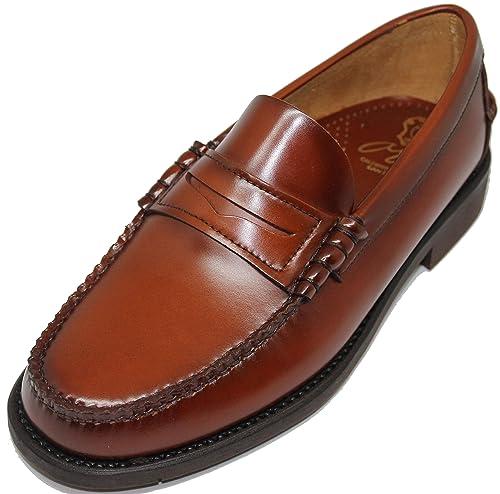 2562. Zapato mocasín Cosido a Mano en Inca Mallorca; Piel de ...