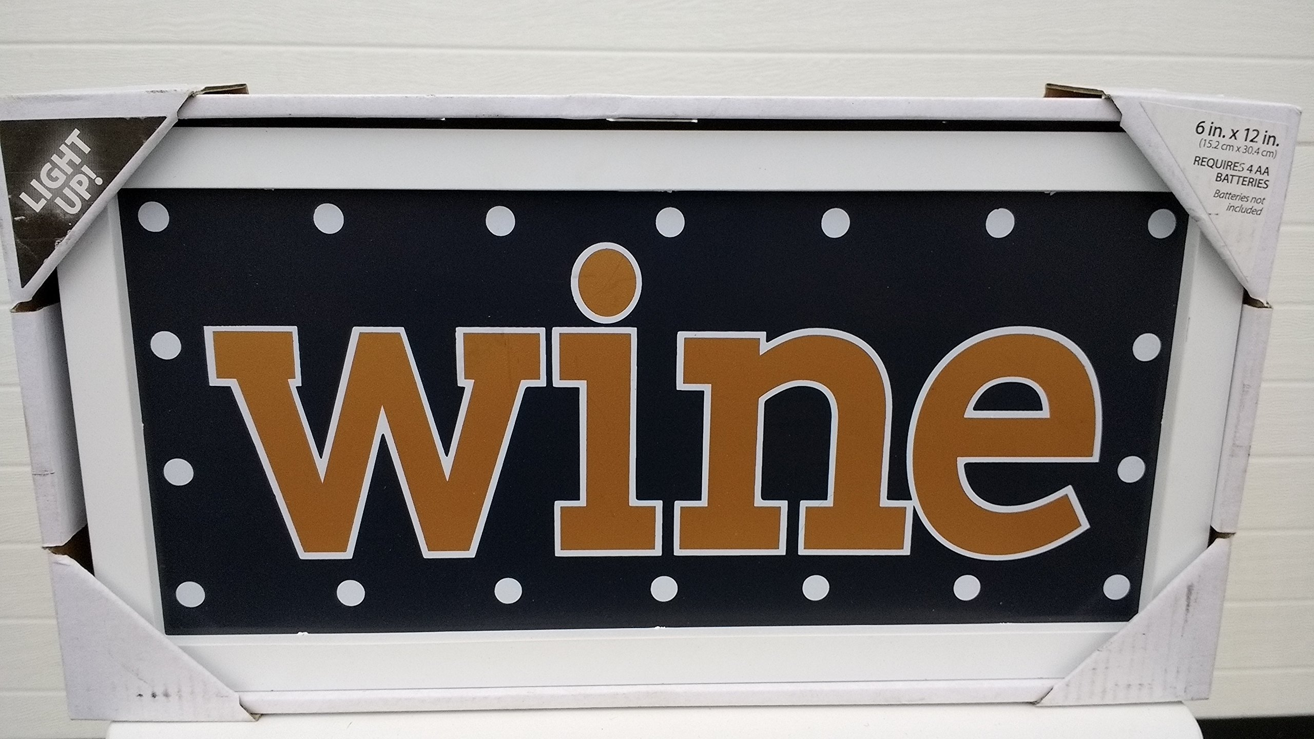 Lightup Frame WINE 6 in X 12 in Decor and Design
