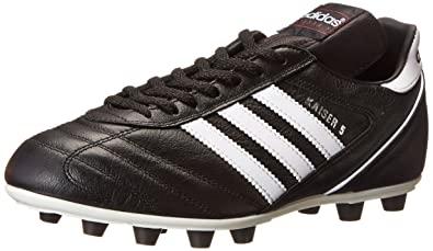 the latest da9e7 559ec adidas Kaiser 5 Liga FG Firm Ground Mens Soccer Boot Black White - US 9
