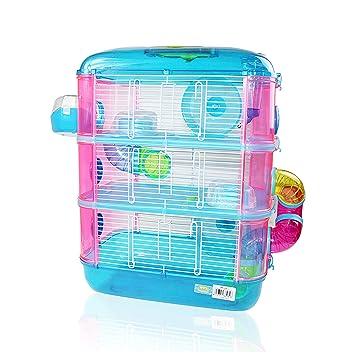 online for sale top quality good out x Cage pour hamster à 3 étages