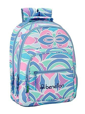 """Benetton """"Arcobaleno"""" Oficial Mochila Escolar 320x160x420mm"""