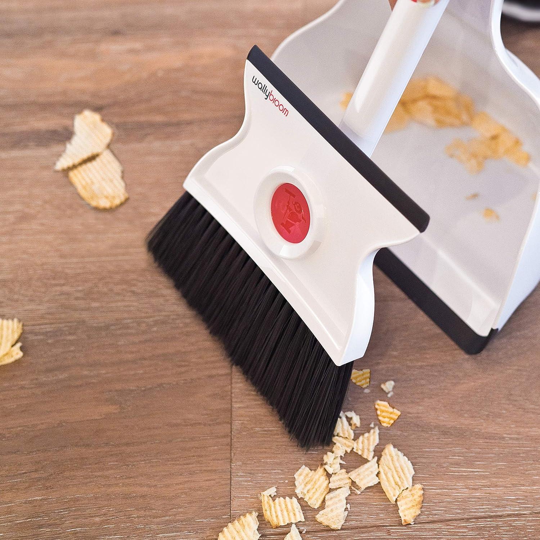 wallybroom - rápido y fácil mojado o seco escoba recogedor - Limpieza de Cualquier húmedo o seco Mess; Sustituye a toallas de papel, trapos y MOP; ...