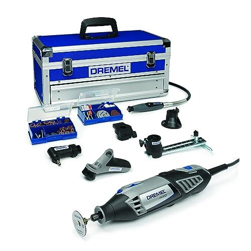Dremel Platinum Edition 4000 Multiherramienta 175 W kit con 6 complementos 128 accesorios velocidad 5 000 35 000 rpm para tallar fresar amolar limpiar pulir cortar lijar y grabar