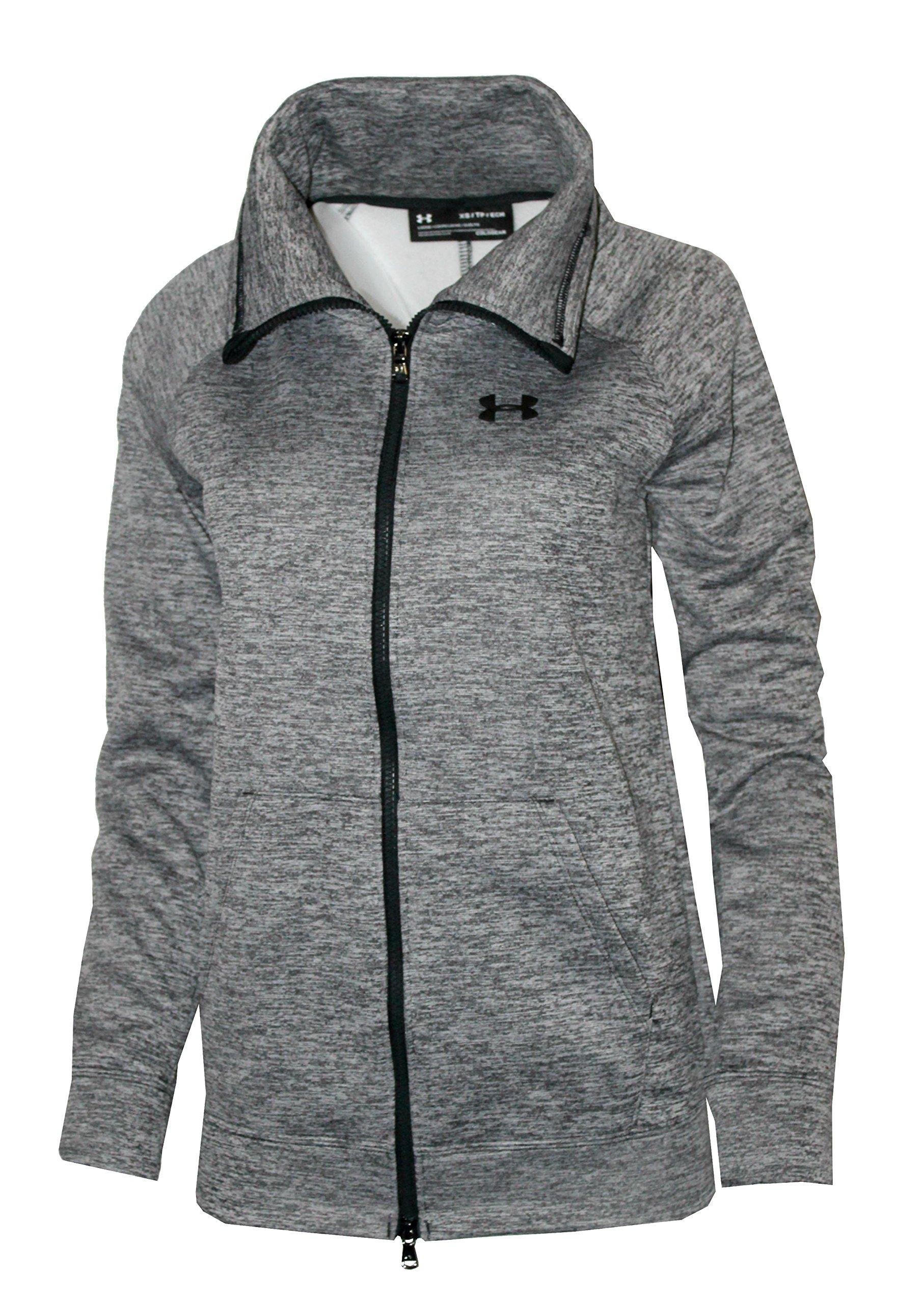 Under Armour Women's UA Storm Full Zip Athletic Shirt (Grey Heather, S)