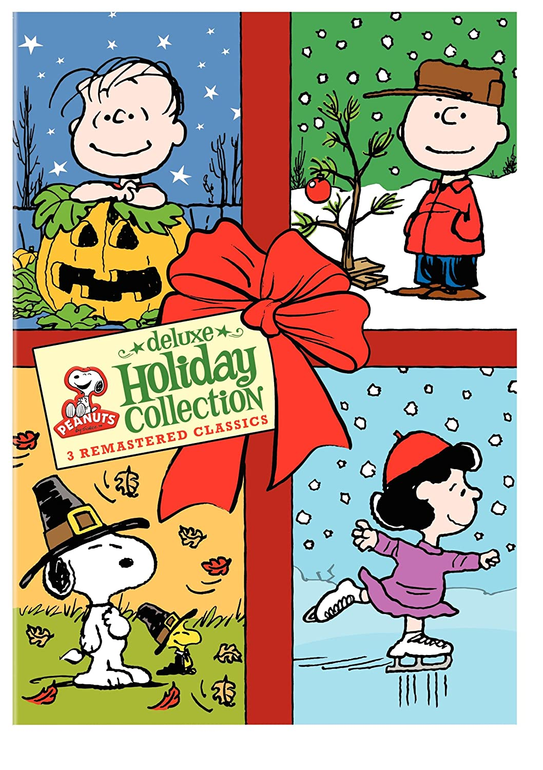amazoncom peanuts holiday collection its the great pumpkin charlie brown a charlie brown thanksgiving a charlie brown christmas movies tv