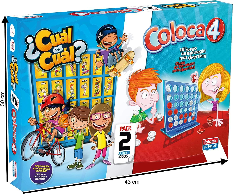 Falomir Coloca 4 Cuál (Pack mesa. Juegos Clásicos. (646474) , color/modelo surtido: Amazon.es: Juguetes y juegos