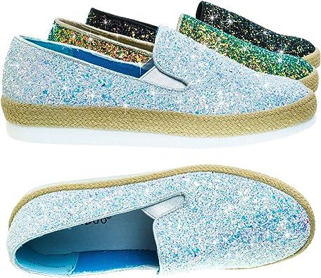 BAMBOO Glitter Slip On Sneaker w