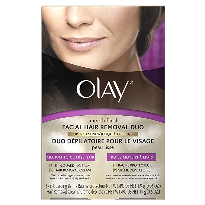Olay Smooth Finish Facial Hair Removal Duo Medium To Coarse, 1 Count by Olay: Amazon.es: Belleza