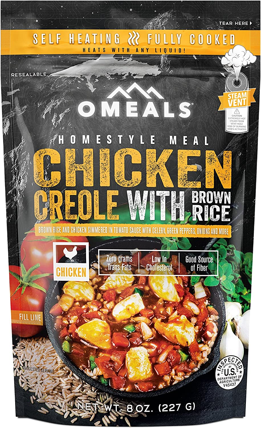 OMEALS Chicken Creole with Brown Rice - Homestyle Meals