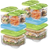Rubbermaid LunchBlox Sandwich and Meal Prep, 2 Pack Set | Stackable & Microwave Safe Lunch Containers | Assorted Colors…