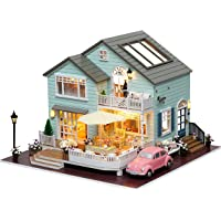 Rylai 3D Puzzles Miniature Dollhouse DIY Kit w/ Light Queenstown Holidays Series Dolls Houses Accessories with Furniture…